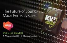 KV2 Audio primes demo room at PLASA 2021