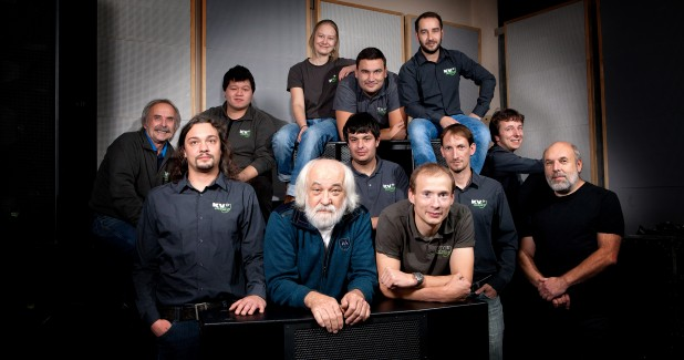 R&D team at KV2 in 2016