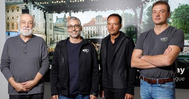 George Krampera snr., Stefano Trevisan, Wolfgang Salzbrenner, George Krampera jr.