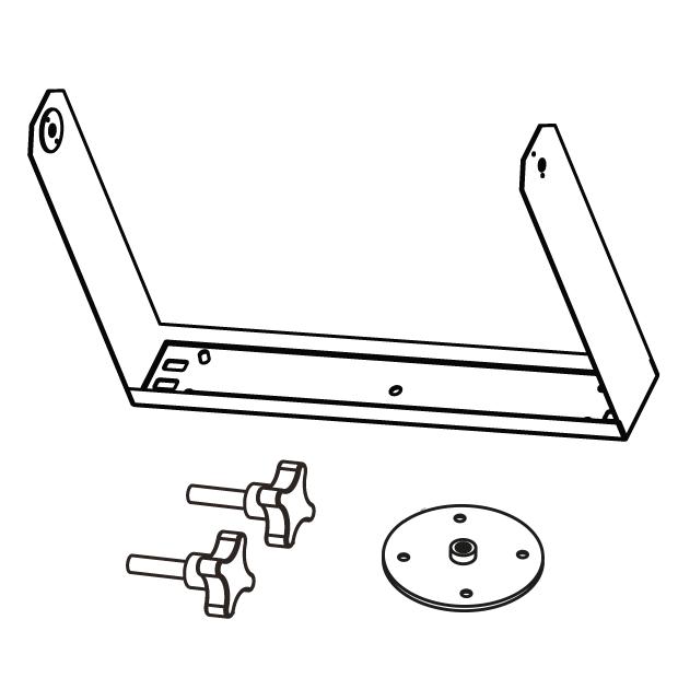 ex series products kv2 audio Push Pull Aluminium Telescopic Pole Hook horizontal bracket for ex10